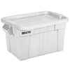 Rubbermaid Commercial Brute® Tote Containers with Lids RCP 9S31 WHI