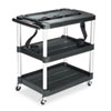 Rubbermaid Commercial Rubbermaid Commercial® Media Master™ Three-Shelf AV Carts RCP 9T28