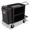 Rubbermaid Commercial High-Capacity Housekeeping Cart RCP 9T62 BLA