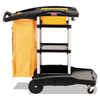 Rubbermaid Commercial Rubbermaid® Commercial High Capacity Cleaning Cart RCP9T7200BK