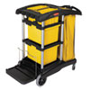 Janitorial Carts, Trucks, and Utility Carts: HYGEN™ Microfiber Healthcare Cleaning Cart