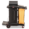Rubbermaid Commercial Rubbermaid® Commercial High-Security Healthcare Cleaning Cart RCP9T7500BK