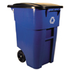 Rubbermaid Commercial Square Brute® Recycling Rollout Container RCP 9W27-73 BLU