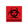 waste receptacles: Rubbermaid® Commercial Biohazard Decal