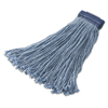 Rubbermaid Commercial Rubbermaid® Commercial Non-Launderable Cotton/Synthetic Cut-End Wet Mop Heads RCP F557BLU