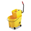 Rubbermaid Rubbermaid Commercial WaveBrake 2.0 Bucket/Wringer Combos RCP FG758088YEL