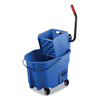 Rubbermaid Rubbermaid Commercial WaveBrake 2.0 Bucket/Wringer Combos RCP FG758888BLUE