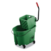 Rubbermaid Commercial Rubbermaid® Commercial WaveBrake® 2.0 Bucket/Wringer Combos RCP FG758888GRN