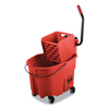 Rubbermaid Commercial Rubbermaid Commercial WaveBrake 2.0 Bucket/Wringer Combos RCP FG758888RED