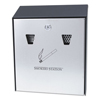 waste receptacle and can liners: Smokers' Station® Wall Mounted Smoking Receptacle