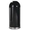 Rubbermaid Commercial Fire-Resistant Steel Dome Waste Receptacle RCP R1536EPLBLK