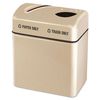 Clean and Green: Rubbermaid® Commercial Two-Section Fiberglass Recycling Center