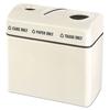 Rubbermaid Commercial Rubbermaid® Commercial 3-Section Recycling Center RCP R3616TPCPLNB