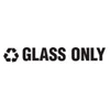 Rubbermaid Commercial Recycling Label Block Letter Decal RCP RSW1