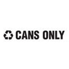 Rubbermaid Commercial Recycling Label Block Letter Decal RCP RSW2