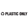 Rubbermaid Commercial Recycling Label Block Letter Decal RCP RSW3
