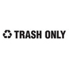 Rubbermaid Commercial Recycling Label Block Letter Decal RCP RSW4