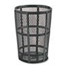 United Receptacle Rubbermaid® Commercial Steel Street Basket Waste Receptacle RCP SBR52EBK