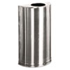 United Receptacle Rubbermaid® Commercial European & Metallic Series Open Top Half-Round Receptacle RCP SO12SSS