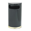 Clean and Green: European & Metallic Series Half-Round Waste Receptacle