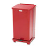 Rubbermaid Commercial Rubbermaid® Commercial Defenders® Heavy-Duty Steel Step Can RCPST12EPLRD