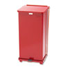United Receptacle United Receptacle Defenders® Biohazard Heavy-Duty Steel Step Cans RCP ST24EPLRD