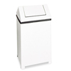 Outdoor Receptacles With Swing Top: Rubbermaid® Commercial Fire-Safe Steel Swing Top Receptacle