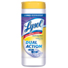 Clean and Green: LYSOL® Brand Dual Action™ Disinfecting Wipes