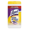 Cleaning Chemicals: LYSOL® Dual Action™ Citrus Disinfecting Wipes