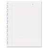 Rediform MiracleBind Ruled Paper Refill Sheets, 11 x 9-1/16, White, 50 Sheets/Pack REDAFR11050R