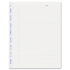 Rediform MiracleBind Ruled Paper Refill Sheets, 9-1/4 x 7-1/4, White, 50 Sheets/Pack REDAFR9050R