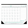 Clean and Green: EcoLogix Monthly Desk Pad Calendar, 22 x 17, 2019