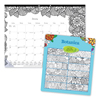 Blueline Blueline® Monthly Desk Pad Calendar with Coloring Pages RED C2917311