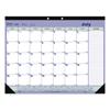 Rediform Academic Desk Pad Calendar, 21.25 x 16, White/Blue/Green, 2021-2022 RED CA181731