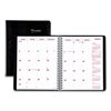 Rediform Brownline® Essential Collection 14-Month Ruled Monthly Planner RED CB1200BLK