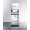 Textiles: Summit Appliance - Puretherm® Fully Assembled Warming Cabinet & Glass Door Beverage Center Stacked Combination