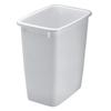 Rubbermaid Open-Top Wastebasket RHP 2806TP WHI