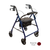 "Ring Panel Link Filters Economy: Compass Health Brands - ProBasics Economy Steel Rollator with 6"" Wheels, Burgundy"