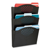 Safco Safco® Steel Wall Pockets, Letter, Three Pocket, 12 x 3 1/4 x 17 1/4 Black SAF 3172BL