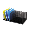 Safco Safco® Onyx™ Mesh Desk Organizer with Upright Sections SAF 3253BL