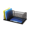 Safco Safco® Onyx™ Desk Organizer with Three Horizontal and Three Upright Sections SAF 3254BL
