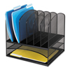 Safco Safco® Onyx™ Mesh Desk Organizer With Two Horizontal/Six Upright Sections SAF 3255BL