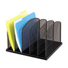 Safco Safco® Onyx™ Mesh Desk Organizer with Upright Sections SAF 3256BL