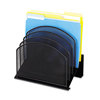 Safco Safco® Onyx™ Mesh Desk Organizer with Tiered Sections SAF 3257BL