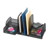 Safco Safco® Onyx™ Mesh Desk Organizer with Three Vertical Sections/Two Baskets SAF 3263BL