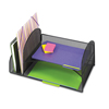 Safco Safco® Onyx™ Mesh Desk Organizer with Two Vertical/Two Horizontal Sections SAF 3264BL