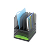 Safco Safco® Onyx™ Mesh Desk Organizer with Five Vertical/Three Horizontal Sections SAF 3266BL