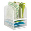 Safco Safco® Onyx™ Mesh Desk Organizer with Five Vertical/Three Horizontal Sections SAF 3266WH