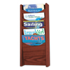 Safco Safco® Solid Wood Wall-Mount Literature Display Rack SAF 4330MH