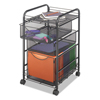 Safco Safco® Onyx™ Mesh Mobile File with Two Supply Drawers SAF5213BL